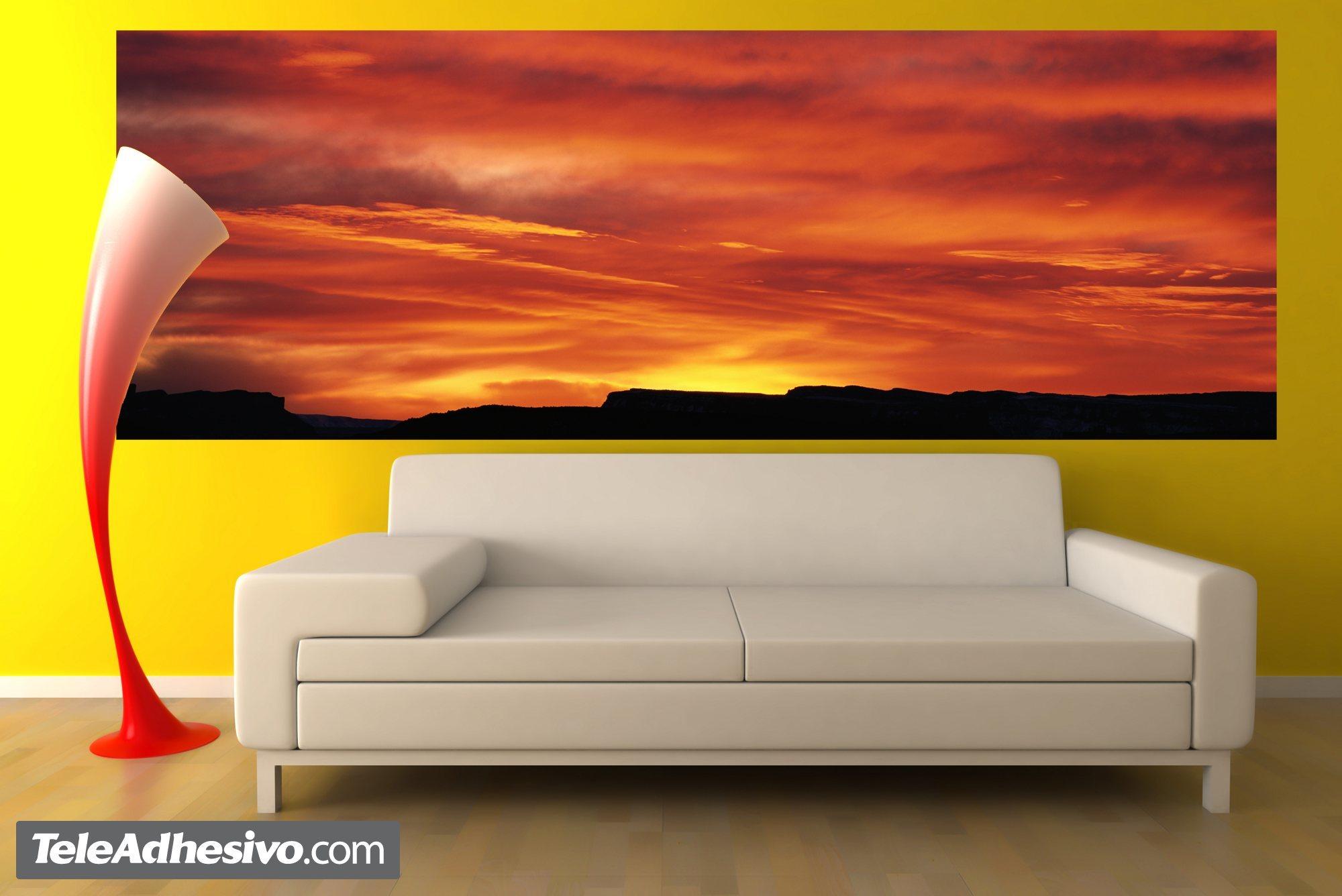 Fototapeten: Rötlich Sonnenuntergang