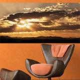 Fototapeten: Sonnenuntergang hinter den Wolken 3