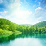 Fototapeten: See in den Bergen 2