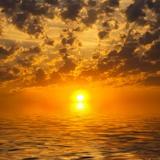 Fototapeten: Sonnenuntergang über dem Meer 2