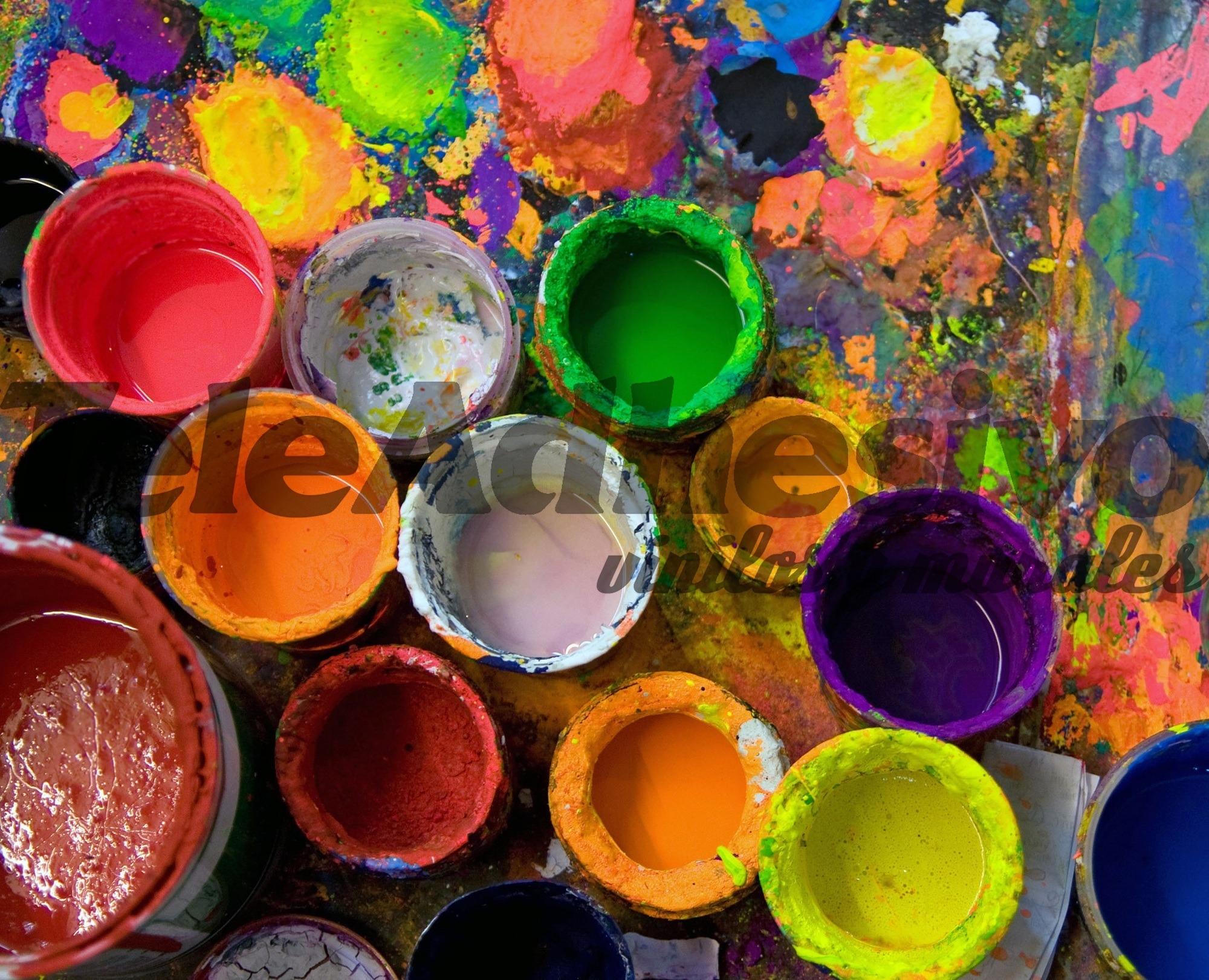 Fototapeten: Farbdosen