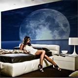 Fototapeten: Mond und Meer 2