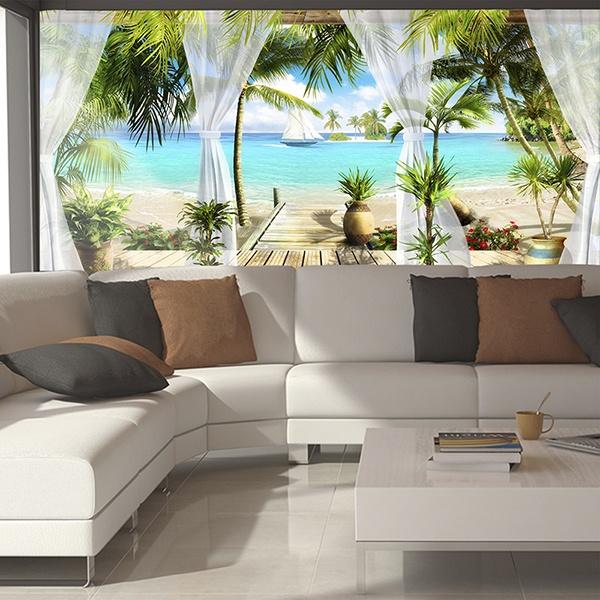 Wandtattoo 3D Effekt Terrassen | WebWandtattoo.com