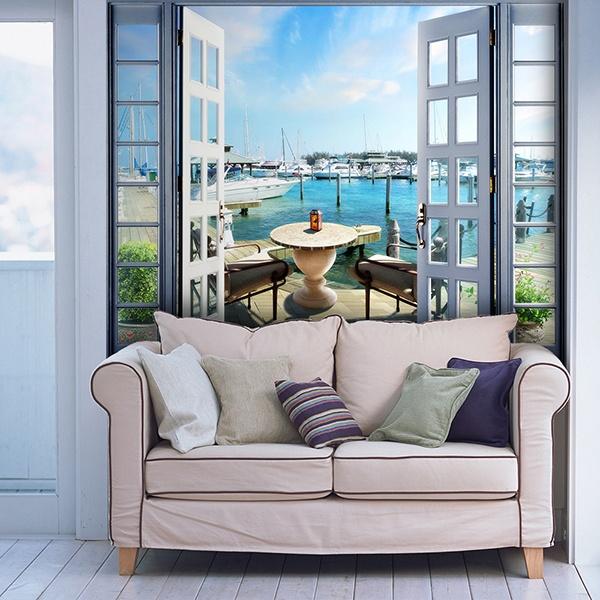 wandtattoo 3d effekt balkon. Black Bedroom Furniture Sets. Home Design Ideas
