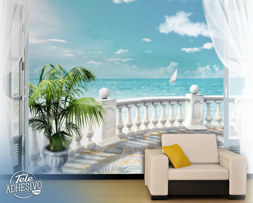 fototapete terrasse meer, Hause und garten
