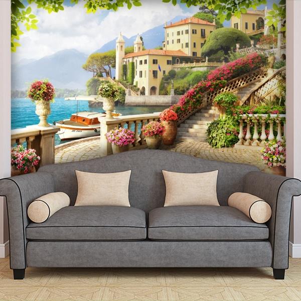 wandtattoo 3d effekt terrassen. Black Bedroom Furniture Sets. Home Design Ideas