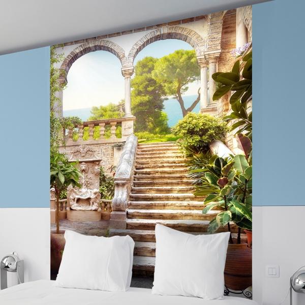 fototapete landschaft der alten treppe. Black Bedroom Furniture Sets. Home Design Ideas