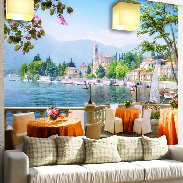 Fototapeten: Terrasse Mit Blick Auf Einen See