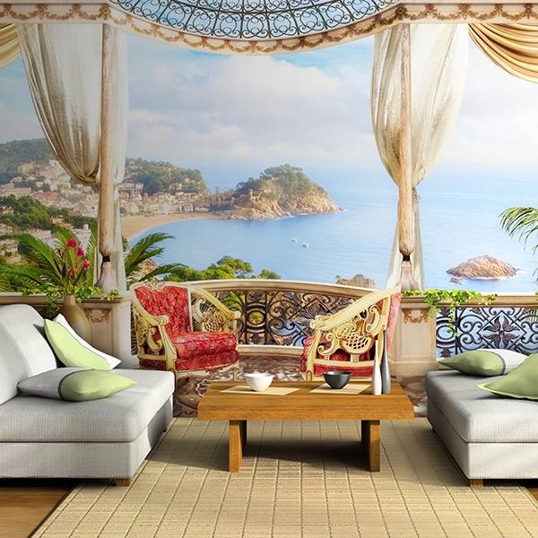 Fototapeten: Luxus Meerblick Terrasse