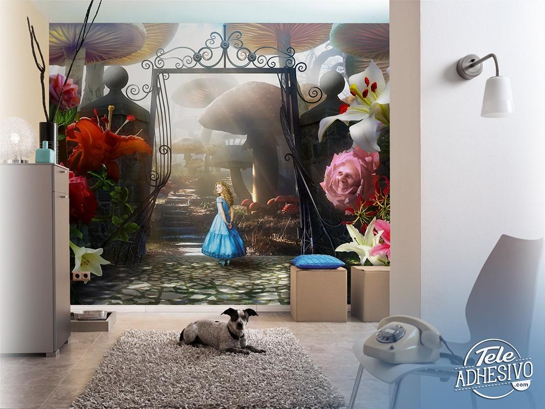 fototapete alice. Black Bedroom Furniture Sets. Home Design Ideas