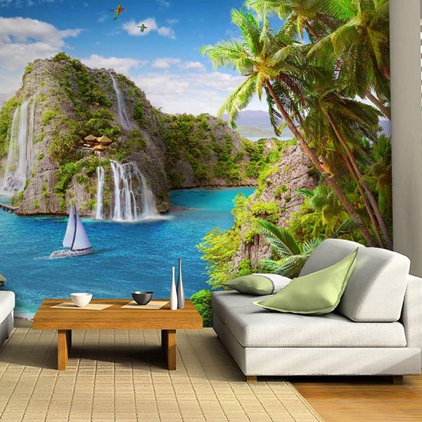 fototapete polynesien insel. Black Bedroom Furniture Sets. Home Design Ideas