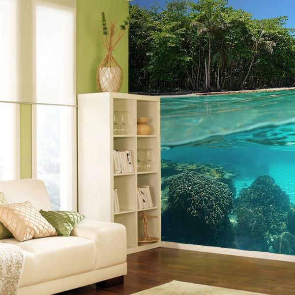 fototapete kristallklare wasser des meeres. Black Bedroom Furniture Sets. Home Design Ideas