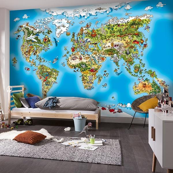 Fototapeten Der Weltkarte Fur Kinder Webwandtattoo Com