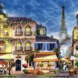Fototapeten: Straßen von Paris 1
