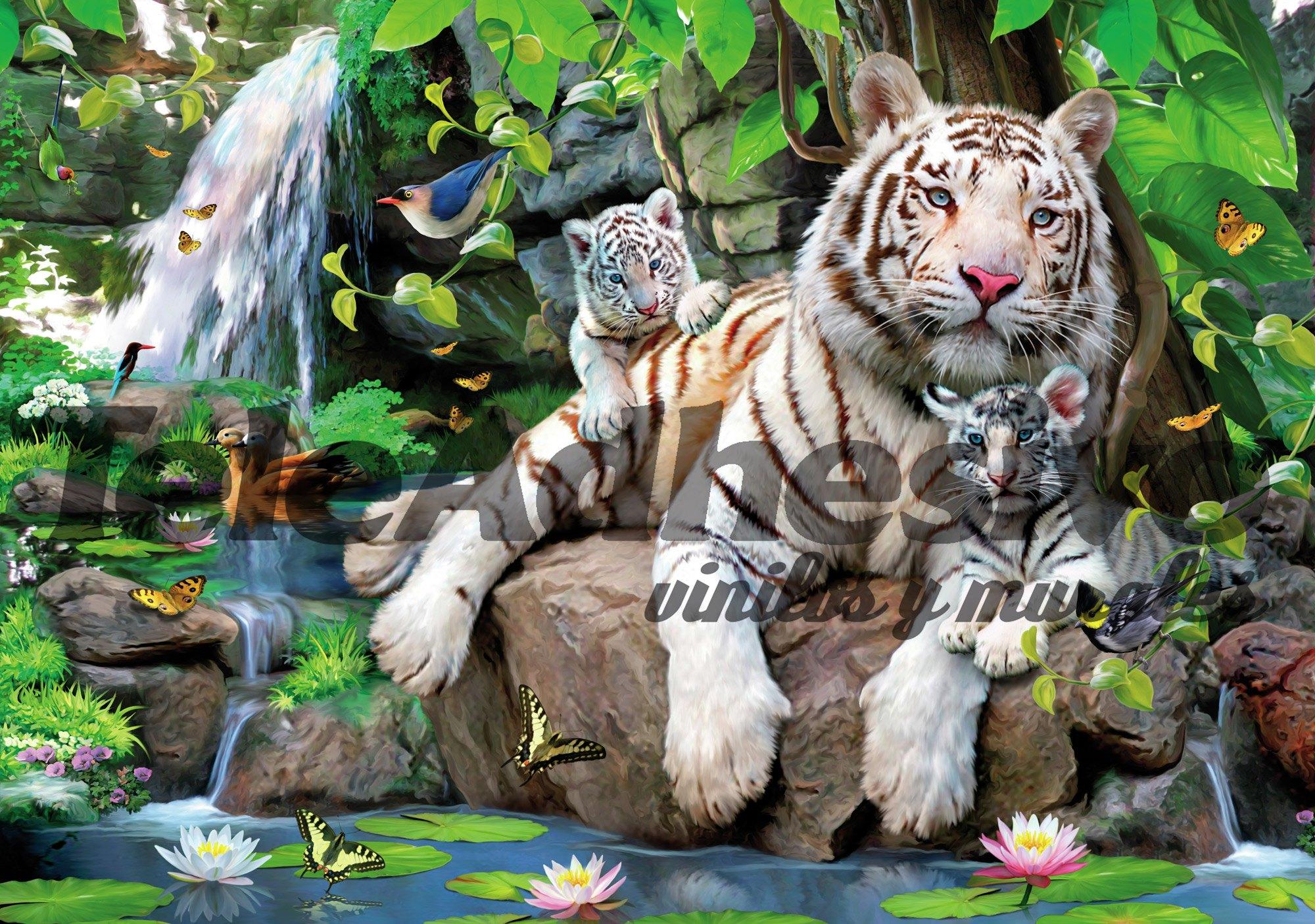 Fototapeten: Albino Tiger