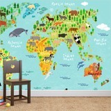 Fototapeten: Kinderweltkarte 2 3