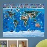 Fototapeten: Kinderweltkarte Flaggen 3