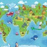 Fototapeten: Kinderweltkarte 3 2
