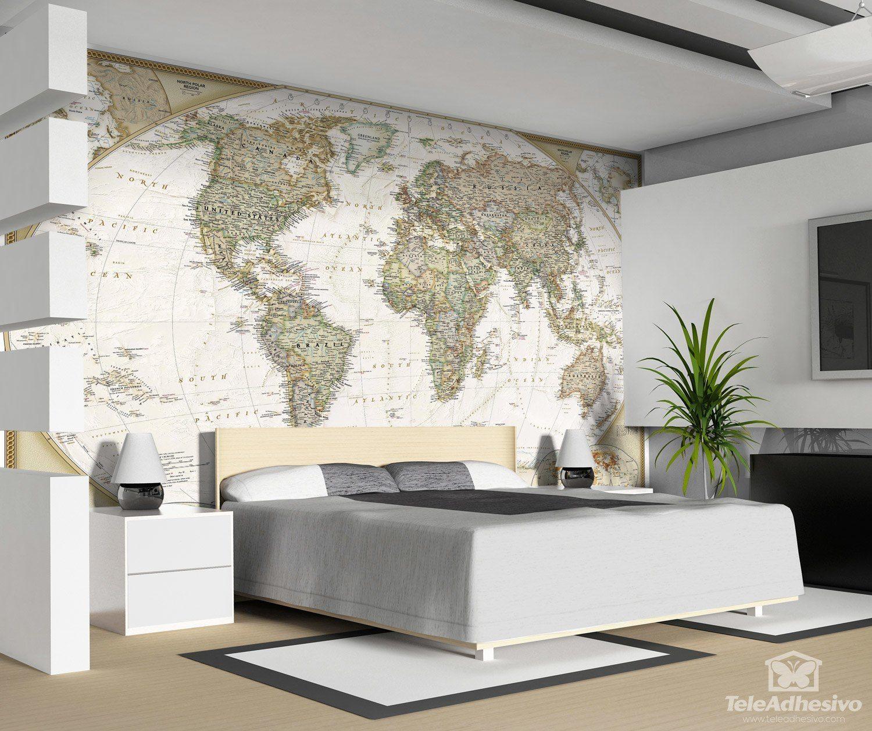 Fototapeten: Politische Weltkarte
