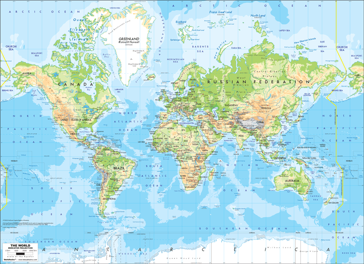 Fototapeten: World Map 1