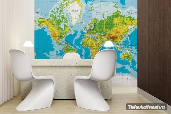 Fototapeten: Weltkarte 2
