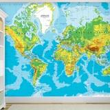 Fototapeten: Weltkarte 2 3
