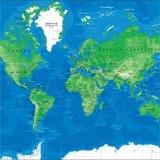 Fototapeten: World Map 3 3