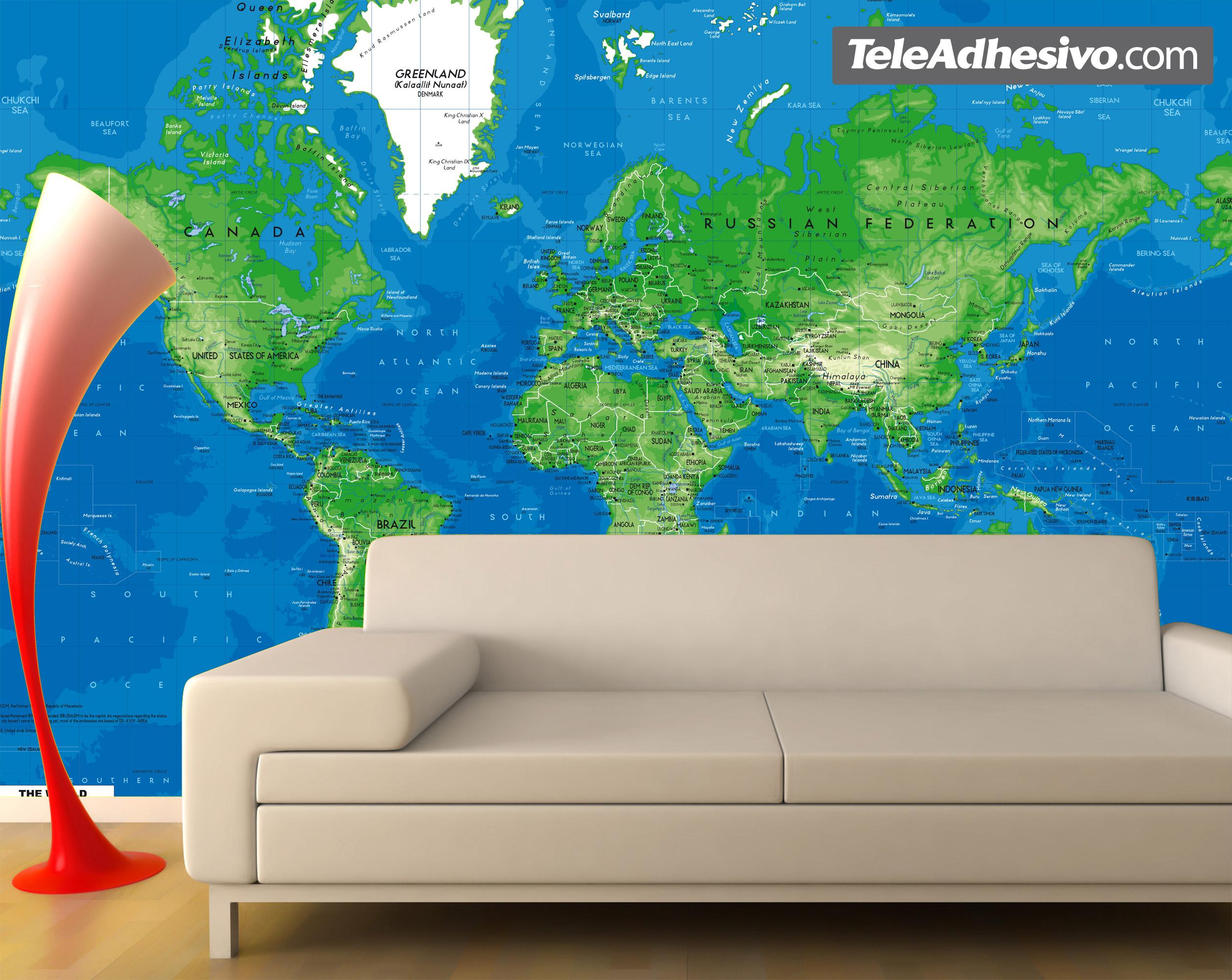 Fototapeten: World Map 3