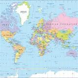 Fototapeten: Weltkarte 1 2