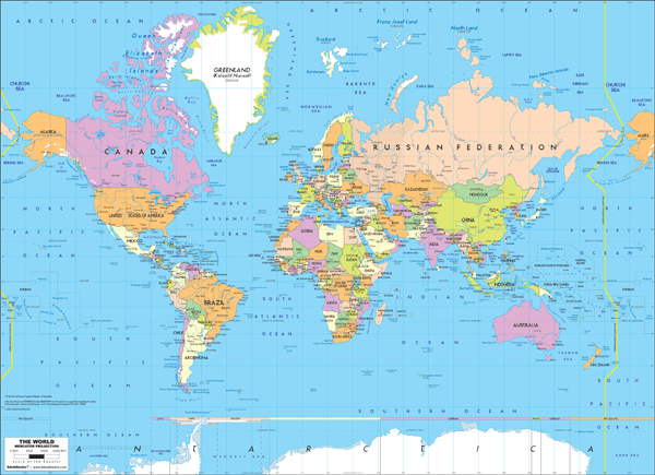 Fototapeten: Political World Map 2