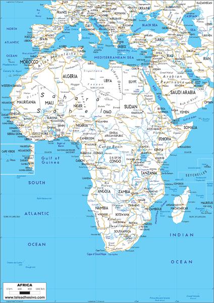 Fototapeten: Africa Roads