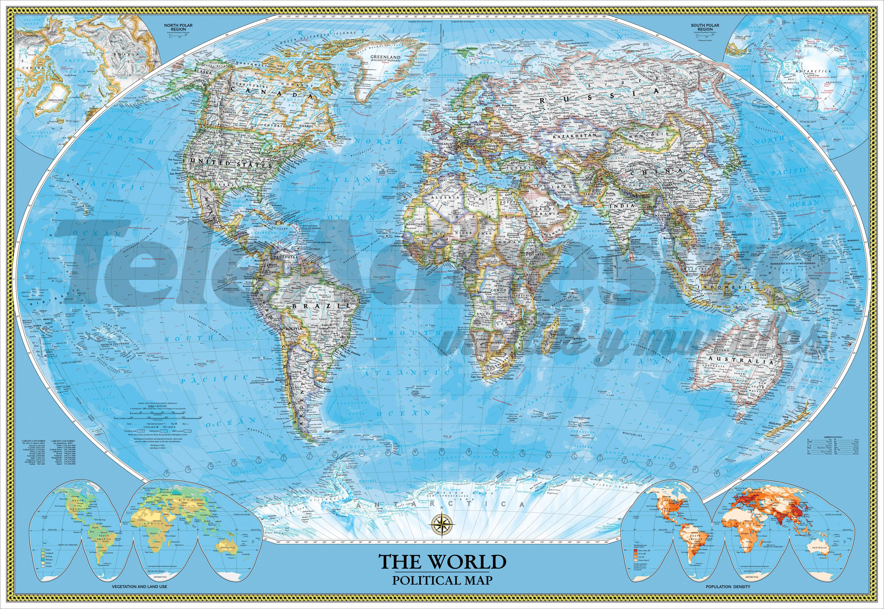 Fototapeten: World Polical Map