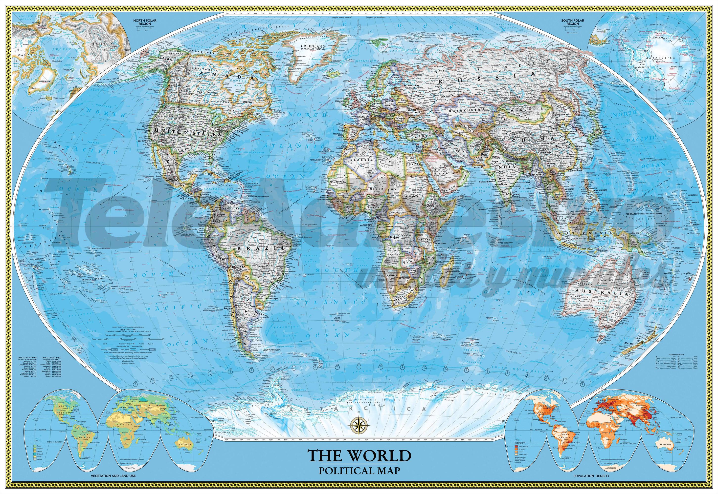Fototapeten: World Polical Map