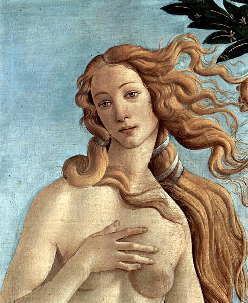 Fototapeten: Die Geburt der Venus (detail)_Botticelli
