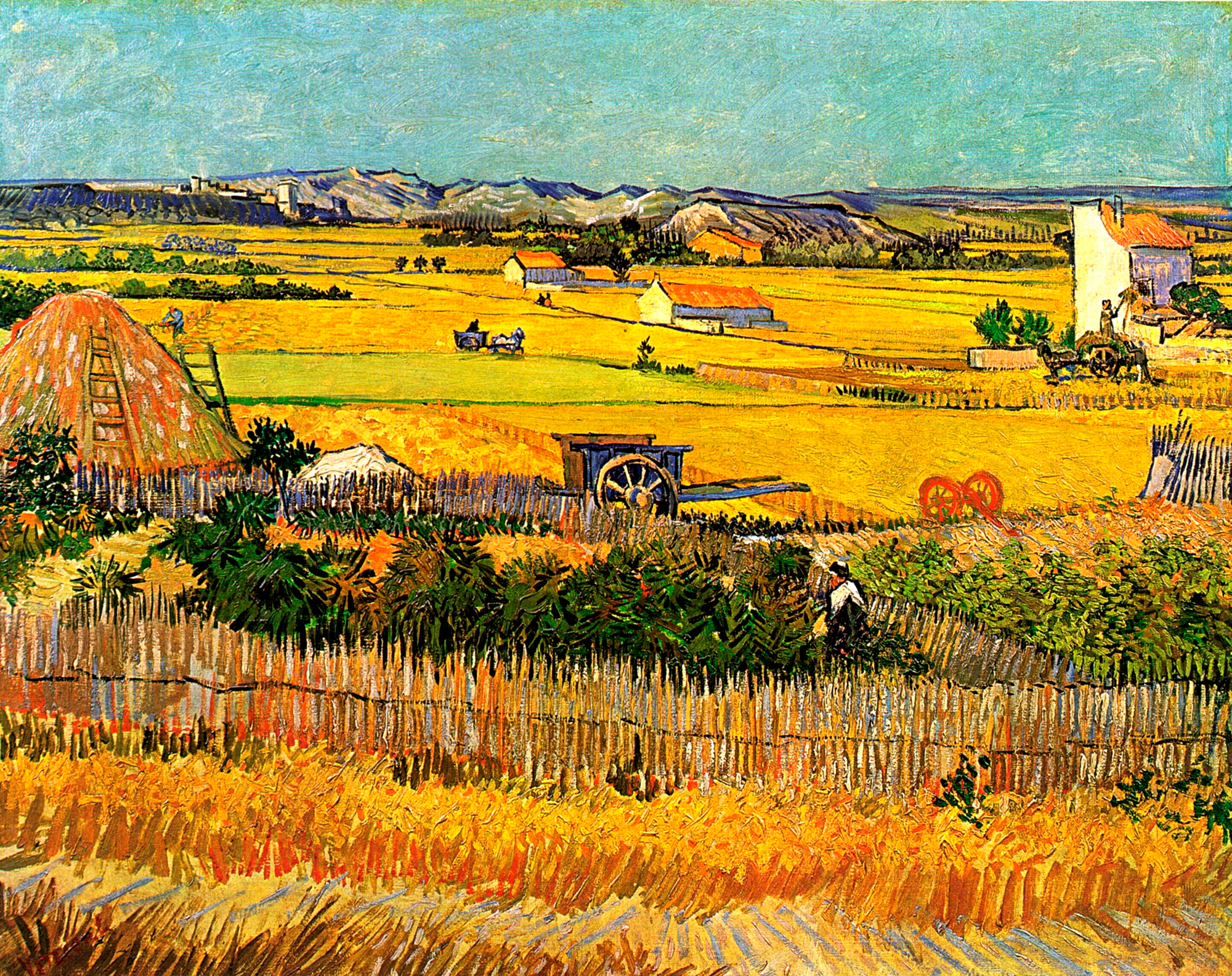 Fototapeten: Ernte in La Crau_Van Gogh