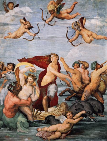 Fototapeten: Triumph der Galatea2_Raphael