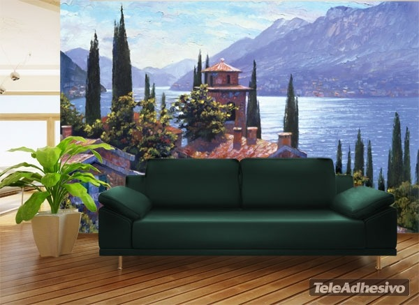 Fototapeten: Lake Lugano (Howard Beherens)