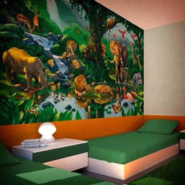 Fototapeten f r kinder und jugendliche - Jungle wandtattoo ...