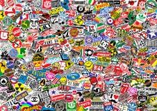 Fototapeten: StickerBomb Wandbild 2