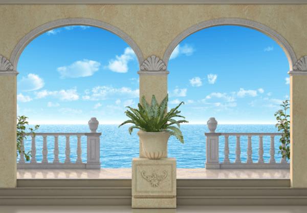 Fototapeten: Maritime Hintergrund Porches
