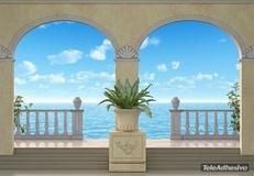 Fototapeten: Maritime Hintergrund Porches 2