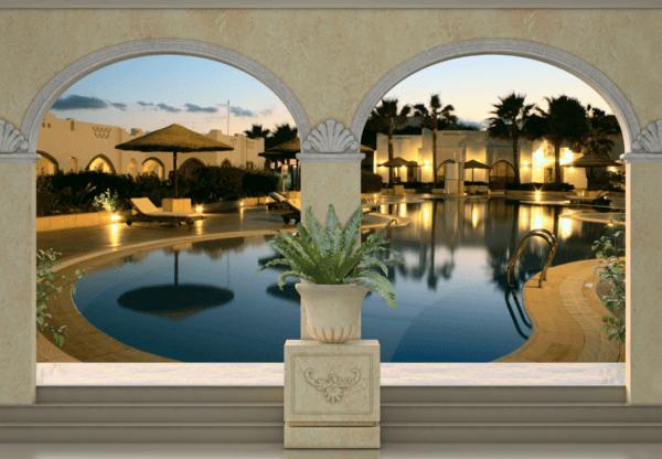 Fototapeten: Luxus Hotel-Pool