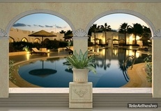 Fototapeten: Luxus Hotel-Pool 2
