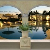 Fototapeten: Luxus Hotel-Pool 3