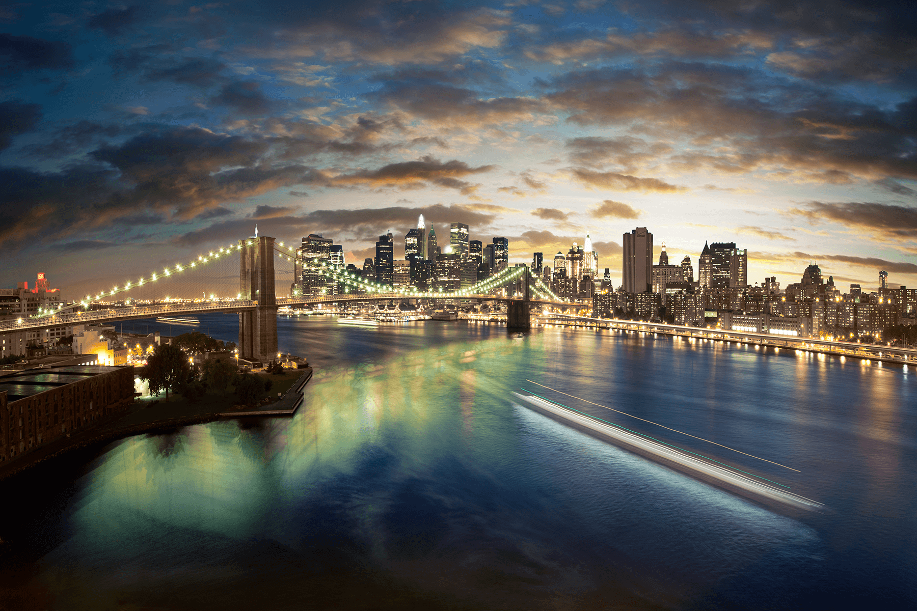 Fototapeten: Magische Brooklyn Bridge