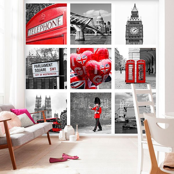 Fototapeten: Collage von London