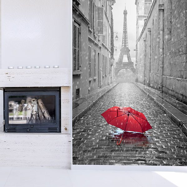 Fototapeten: Regen in Paris