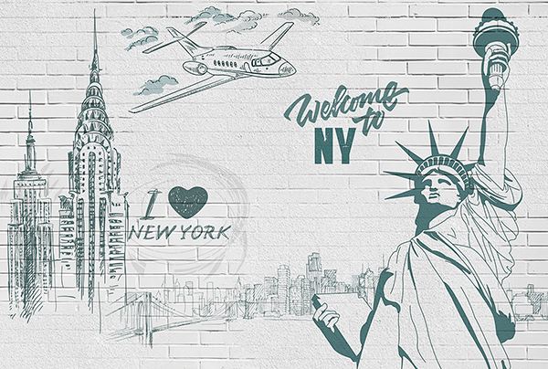 Fototapeten: I Love & Welcome to NY