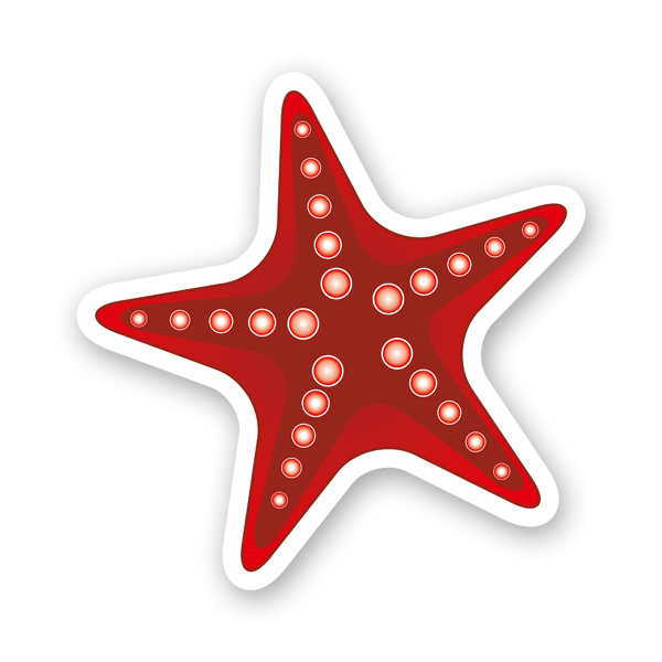 Aufkleber: Starfish