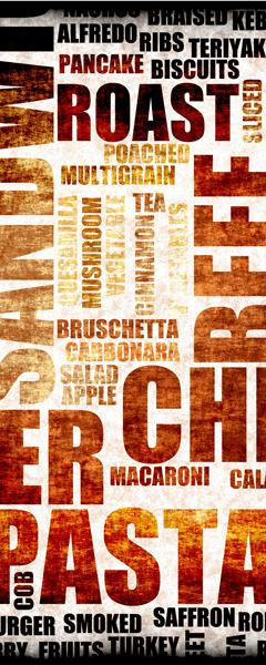Wandtattoos: Typografische Küche